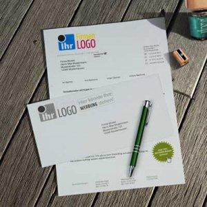 Mailingbeispiel aus unserem Lettershop: Klassisches Mailing - Anschreiben vierfarbig mit bedrucktem Umschlag